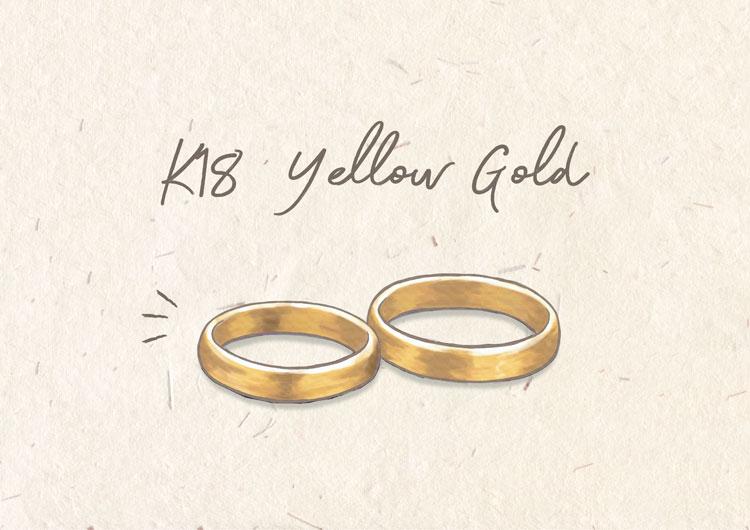 上品で華やかなイエローゴールドのカラー
