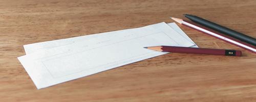 手書き印字専用用紙に手書き文字を描く