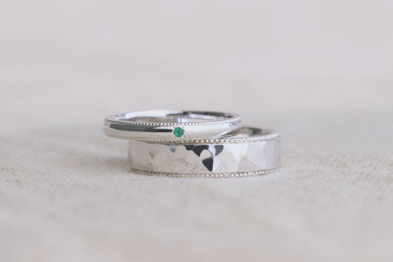 5月の誕生石エメラルドの指輪