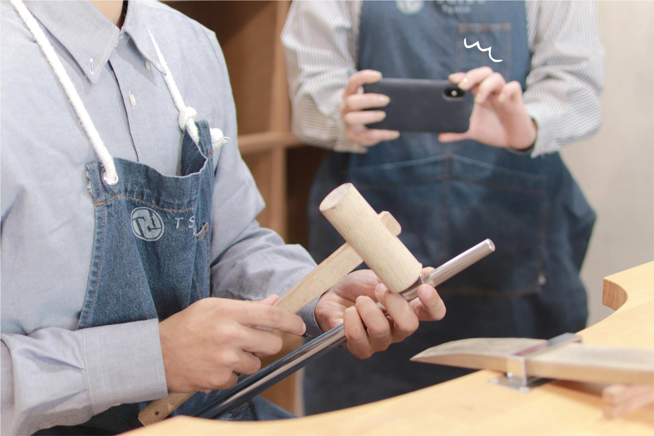 手作り結婚指輪の作業風景を撮影