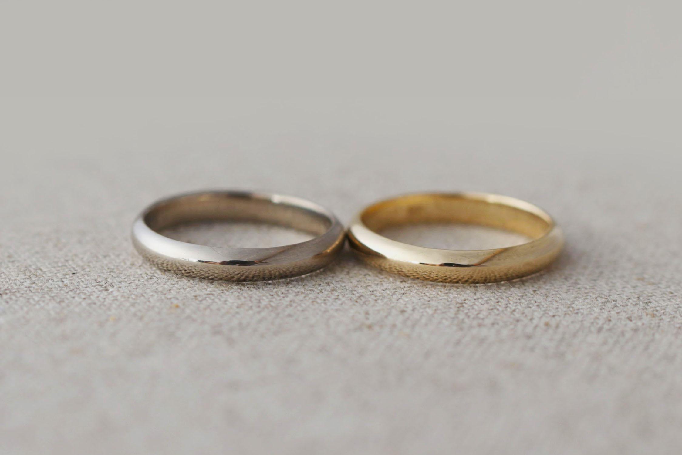 結婚指輪の定番、甲丸タイプ