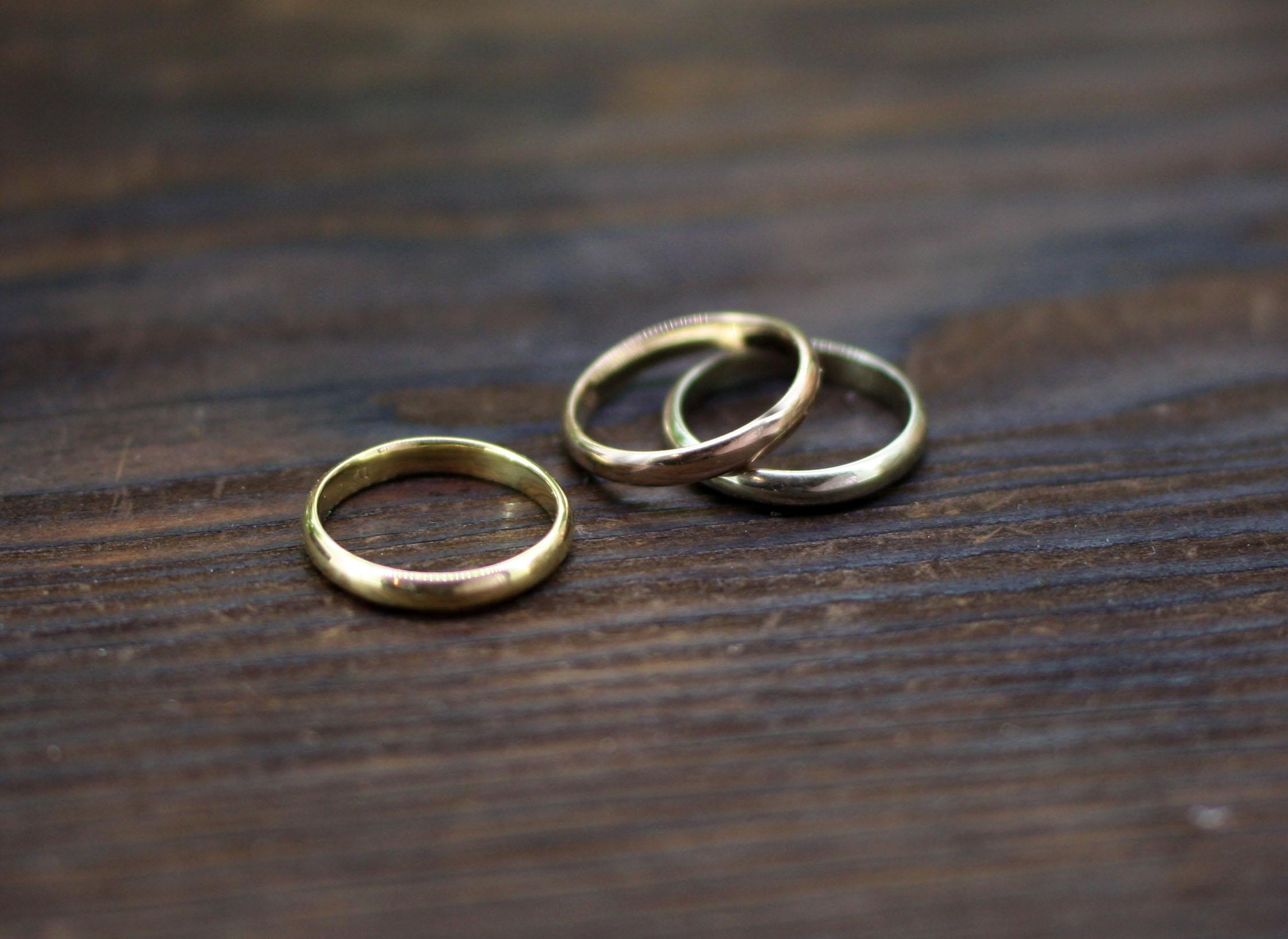 K18指輪3カラー